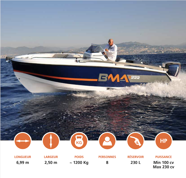 Nautique services La Rochelle - Vente de bateau à La Rochelle - BMA X222